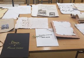 H. Carter naplója_a napló makettek